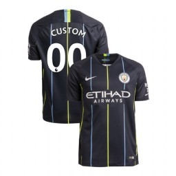 2018/19 Manchester City Soccer Away #00 Custom Navy Authentic Jersey