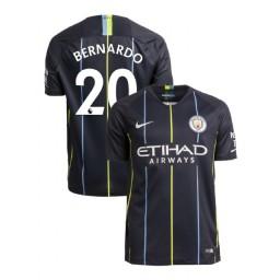 2018/19 Manchester City Soccer Away #20 Bernardo Silva Navy Authentic Jersey