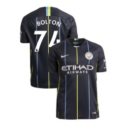 2018/19 Manchester City Soccer Away #74 Luke Bolton Navy Authentic Jersey