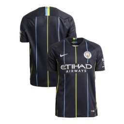 2018/19 Manchester City Soccer Away Navy Authentic Jersey