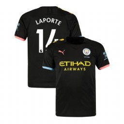 2019/20 Manchester City Soccer #14 Aymeric Laporte Black Away Authentic Jersey