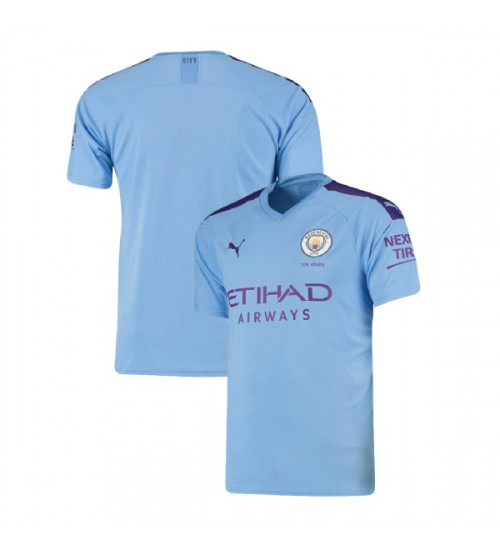 2019/20 Manchester City Soccer Home Light Blue Replica Jersey