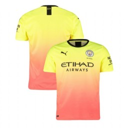 2019/20 Manchester City Soccer Third Yellow Pink Authentic Jersey