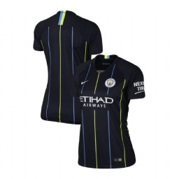 Women's 2018/19 Manchester City Soccer Away Navy Authentic Jersey
