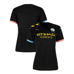 Women's 2019/20 Manchester City Soccer Away Black Authentic Jersey