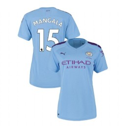 Women's Manchester City Soccer 2019/20 Home #15 Eliaquim Mangala Light Blue Authentic Jersey