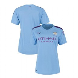 Women's 2019/20 Manchester City Soccer Home Light Blue Authentic Jersey