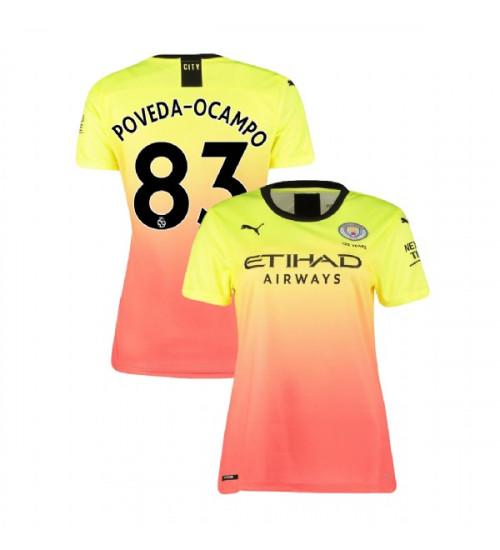 Women's Manchester City Soccer 2019/20 Third #83 Ian Carlo Poveda Yellow Pink Replica Jersey