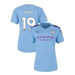 Women's Manchester City Soccer 2019/20 Home #19 Leroy Sane Light Blue Authentic Jersey