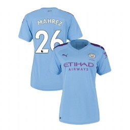 Women's Manchester City Soccer 2019/20 Home #26 Riyad Mahrez Light Blue Authentic Jersey