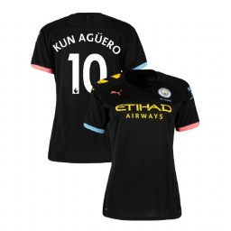 Women's Manchester City Soccer 2019/20 Away #10 Sergio Aguero Black Authentic Jersey