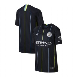 KIDs 2018/19 Manchester City Soccer Away Navy Authentic Jersey