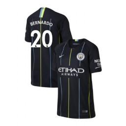 KIDs 2018/19 Manchester City Soccer Away #20 Bernardo Silva Navy Authentic Jersey