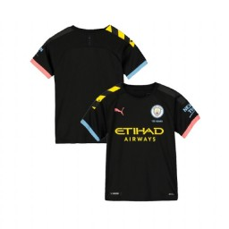 KIDs 2019/20 Manchester City Soccer Away Black Replica Jersey