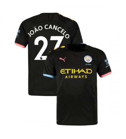2019-20 Manchester City Soccer #27 Joao Cancelo Black Away ...